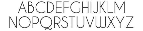 шрифт с тонкими буквами