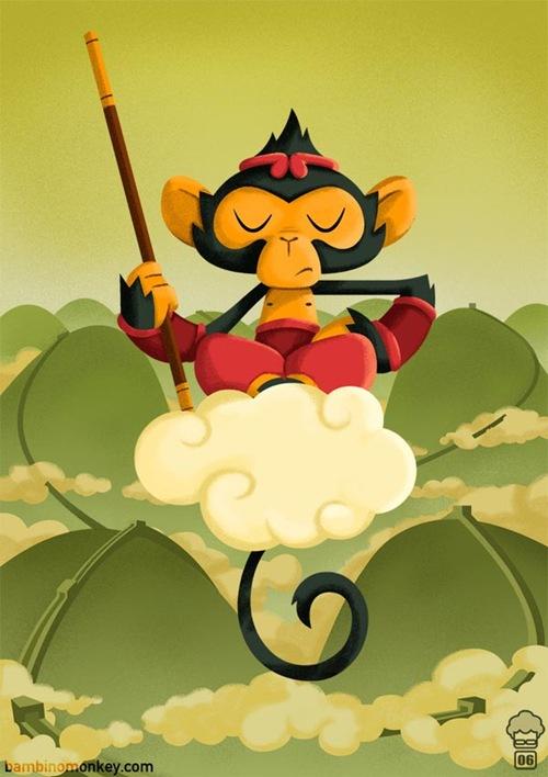 обезьяна воин