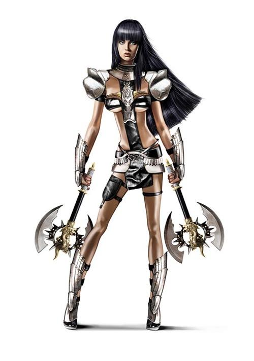 воинственная девушка