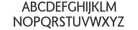жирный минималистичный шрифт