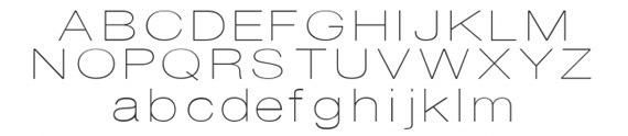 тонкий округлый шрифт