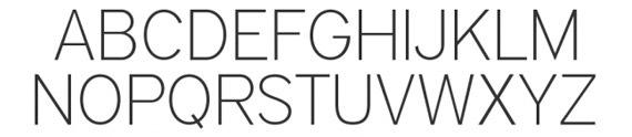 средний шрифт