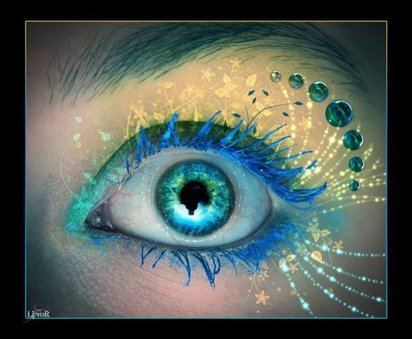 Широкие открытые глаза
