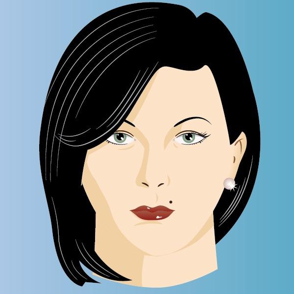 лицо женщины в векторе