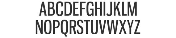 жирный узкий шрифт