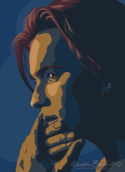 Портрет созданный в Illustrator