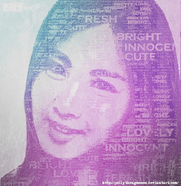 портрет из шрифтов