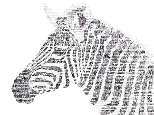 зебра из шрифтов