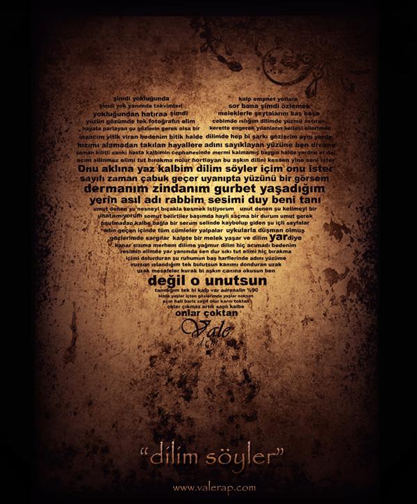 сердце из шрифтов