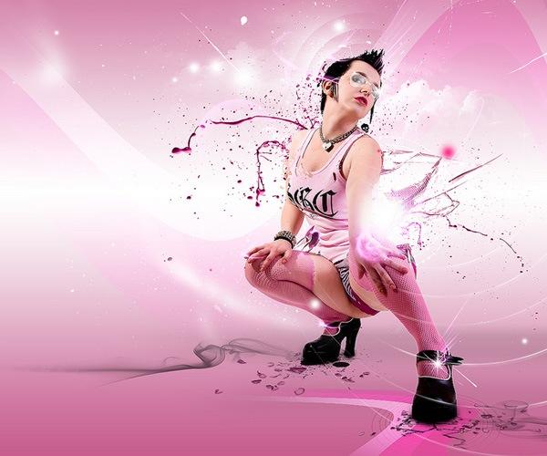 Розовые оттенки в манипуляции