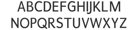 простой жирный шрифт