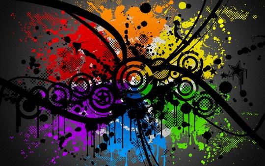 Брызги и потеки краски