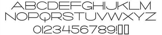 шрифт необычной формы