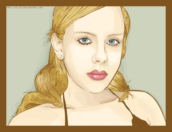 портрет в векторе