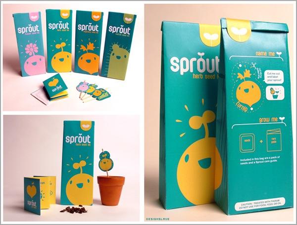 яркие и симпатичные упаковки с семенами