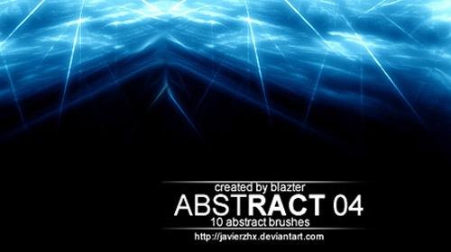 10 абстрактных световых кистей