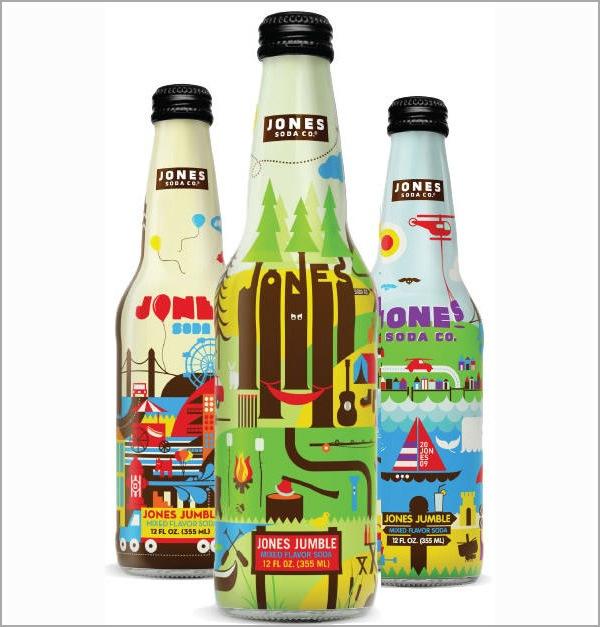 иллюстрации на бутылках с водой