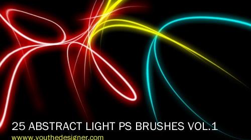 25 абстрактных кистей световых эффектов