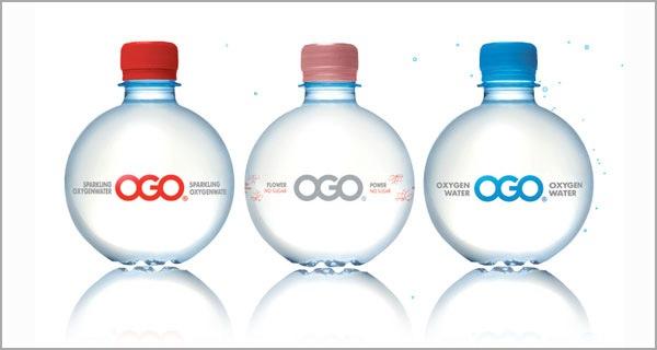 чистый и приятный дизайн для бутылочек с водой