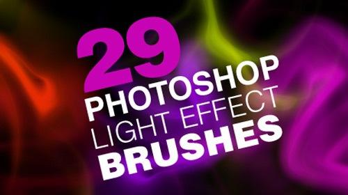 29 кистей световых эффектов в высоком разрешении