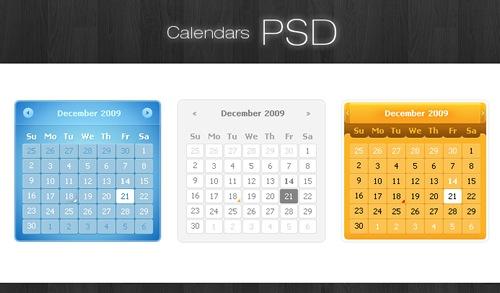 Календари PSD