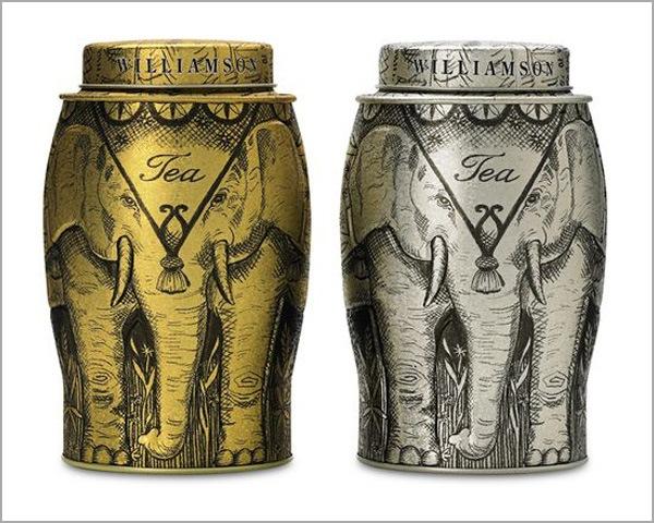 упаковка чая в виде слонов