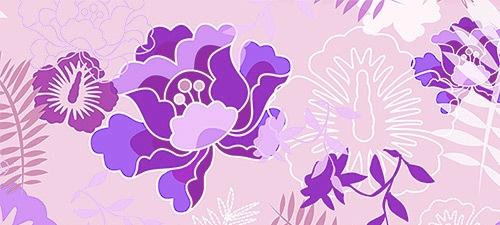 Цветочные ботанические паттерны