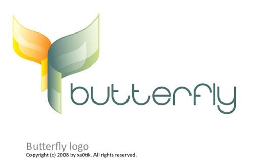 лого в виде бабочки