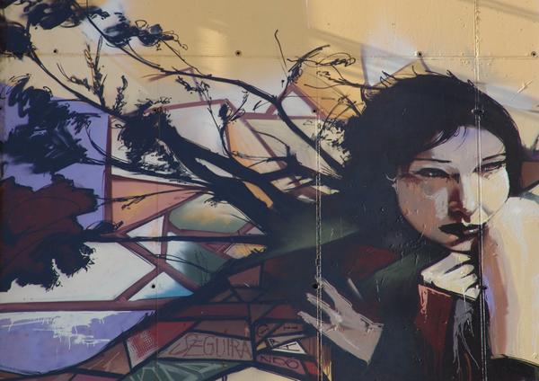 граффити в абстрактном стиле