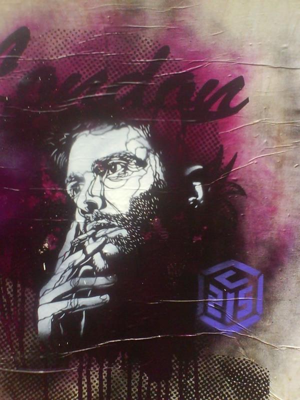 граффити в стиле ретро