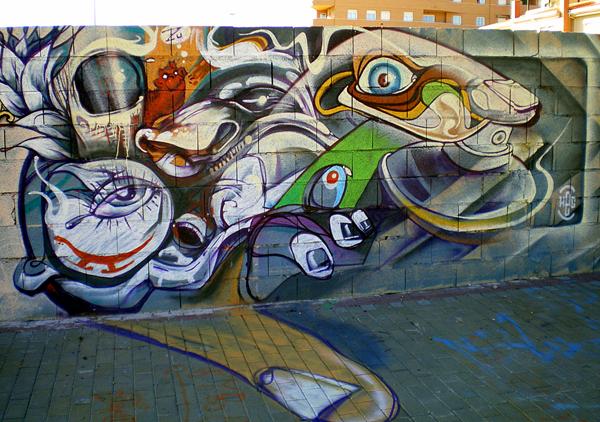 абстрактное граффити
