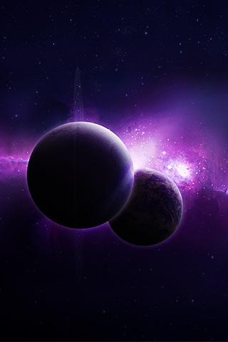 две лиловые планеты