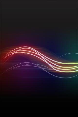 абстрактные неоновые линии