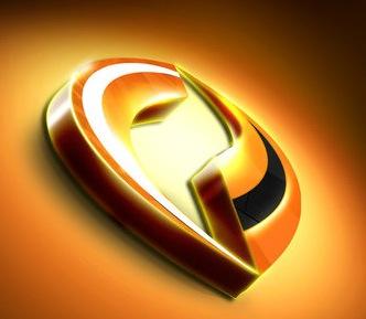 лого в золотых оттенках