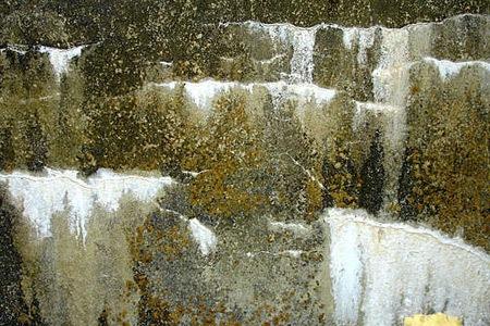 Бетон в виде водопада