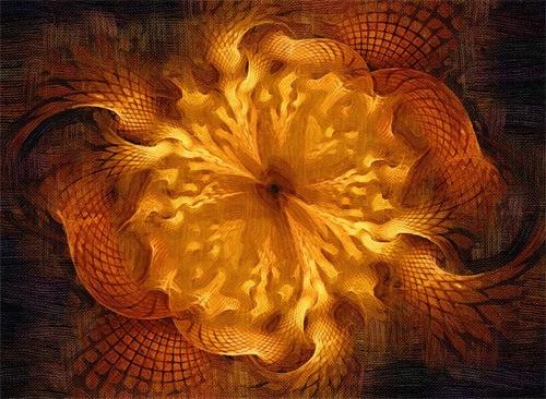 Фрактальный цветок