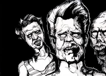 трое зомби