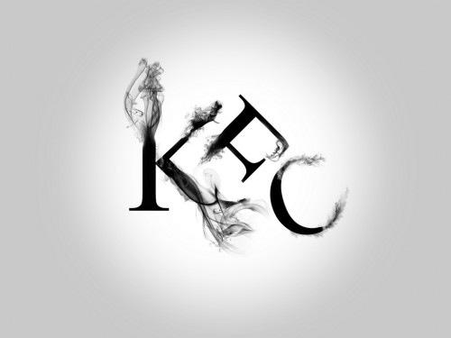 дымящаяся типографика