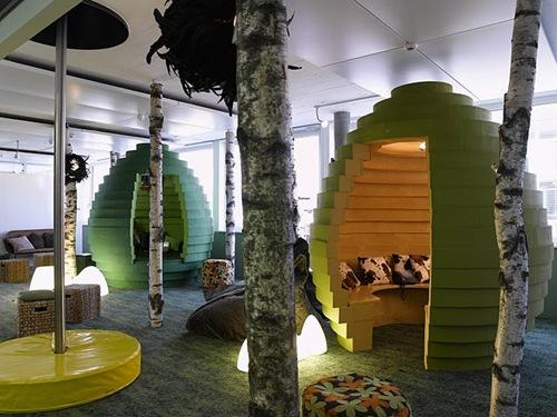 офис Google в летнем исполнении