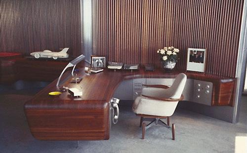 офис в ретро стиле
