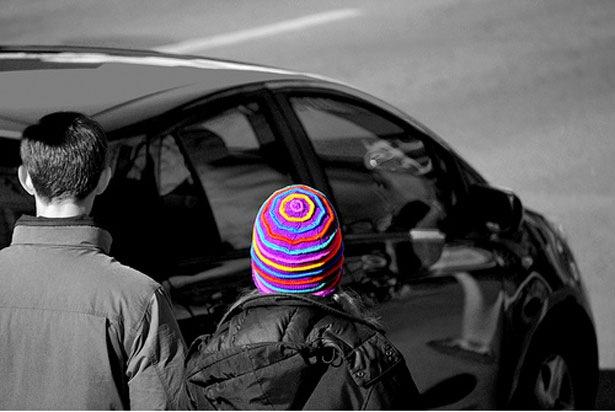 Полосатая шапка
