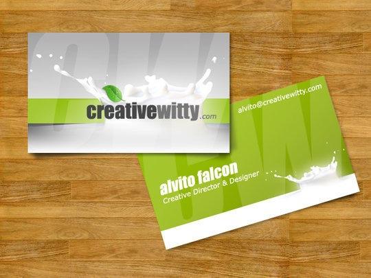 Сочный дизайн визитной карточки