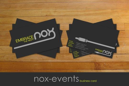 Визитка для компании NOX