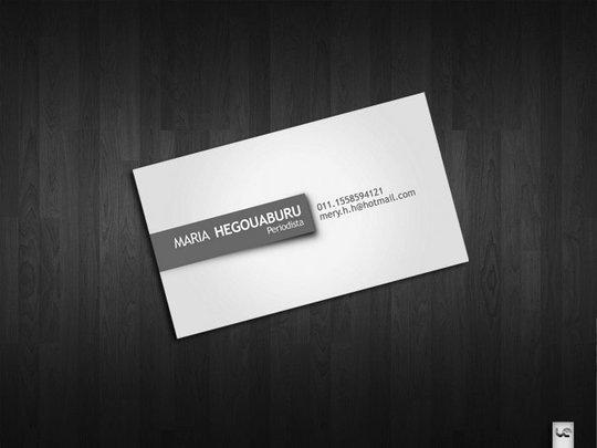 Чистый аккуратный дизайн визитки