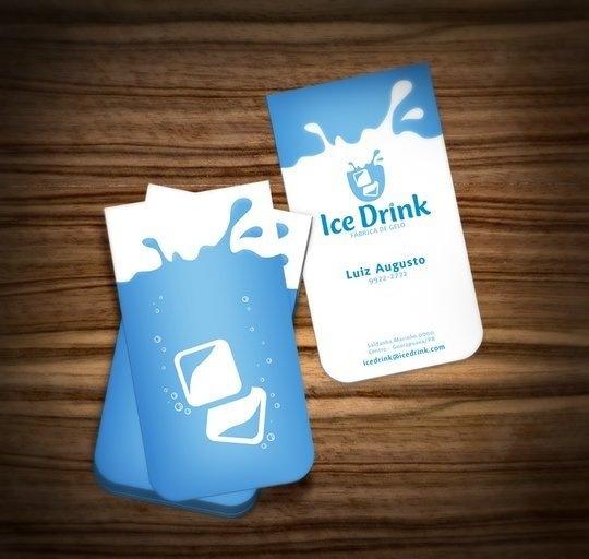 Лед и вода на визитке