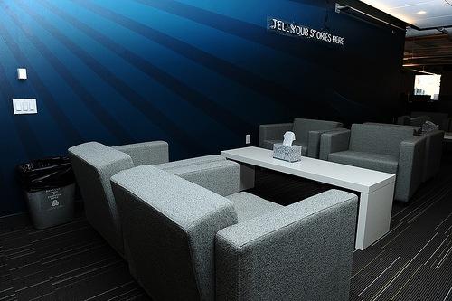 минималистичный дизайн офиса twitter