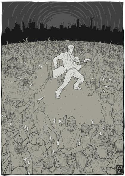 толпа зомби