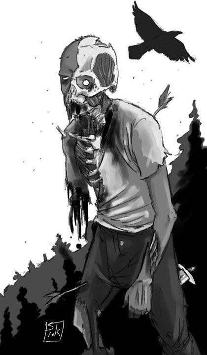 зомби скелет