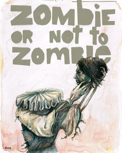 постер с зомби