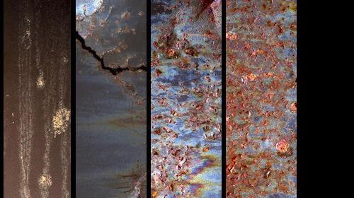 Набор металлических ржавых текстур